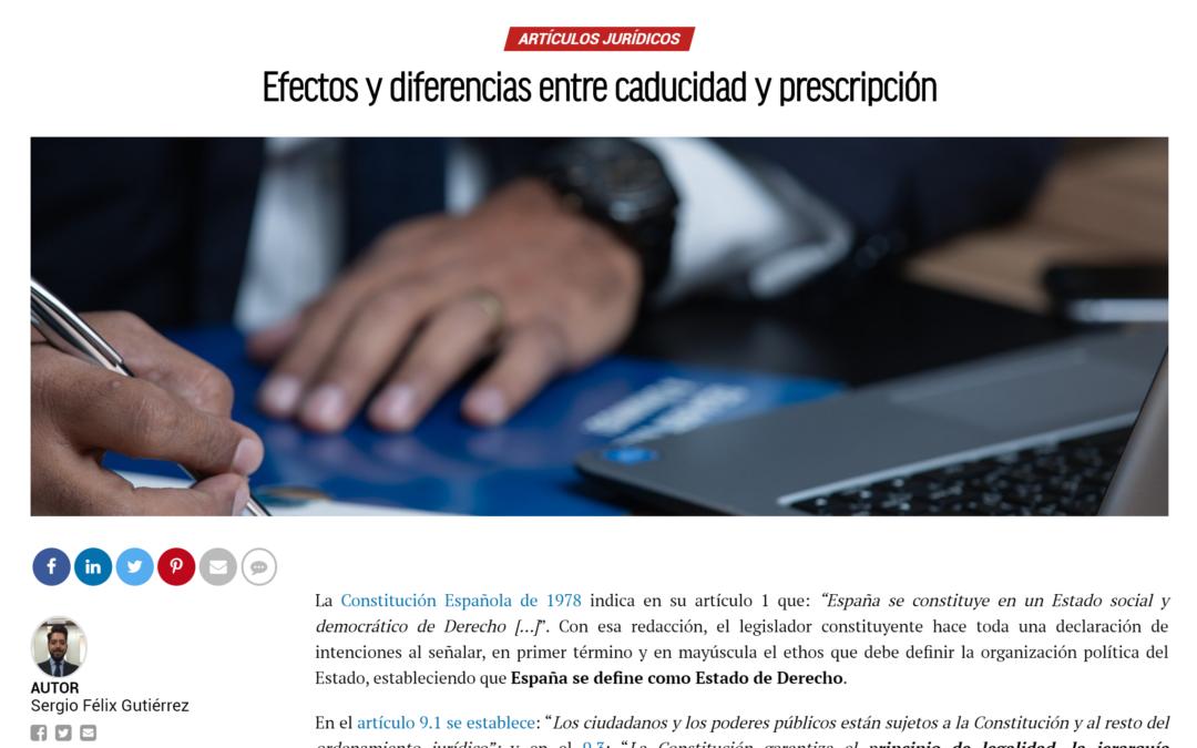 Efectos y diferencias entre caducidad y prescripción